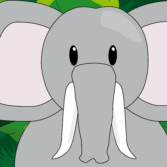 Olifant Tania jungle