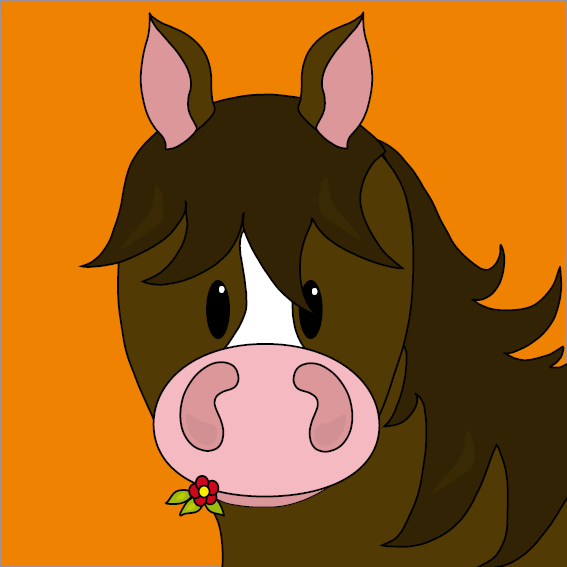 Paard Fleur oranje