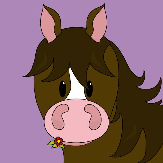 Paard Fleur paars