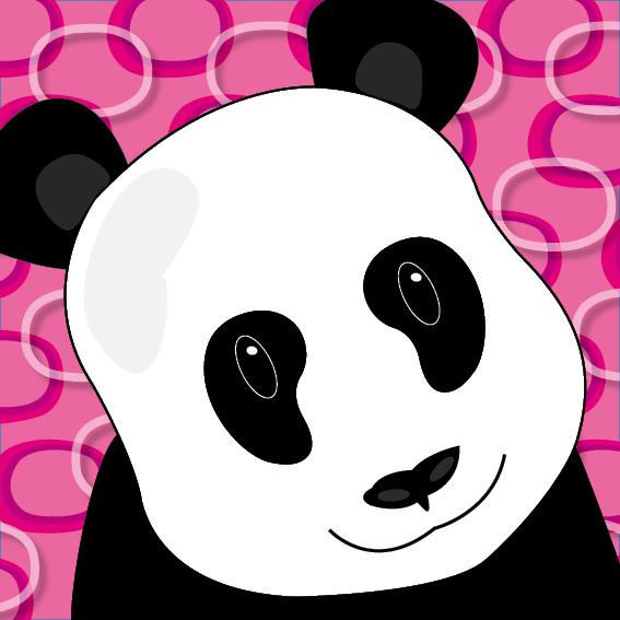 Panda Sam roze ringen
