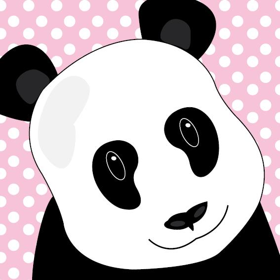 Panda Sam stippen roze