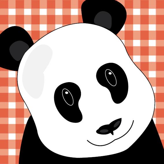 Panda Sam rode ruit