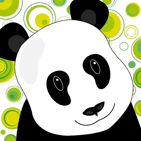 Panda Sam cirkels groen