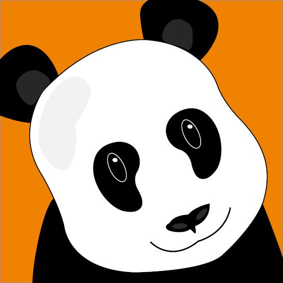 Panda Sam oranje