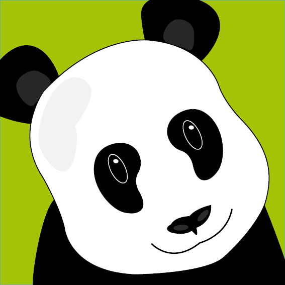Panda Sam groen