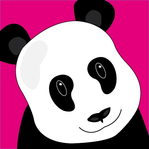 Panda Sam roze