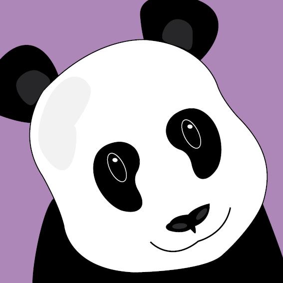 Panda Sam paars