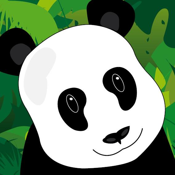 Panda Sam jungle
