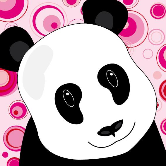 Panda Sam cirkels roze
