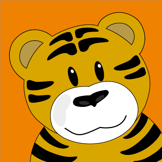 Tijger Thomas oranje