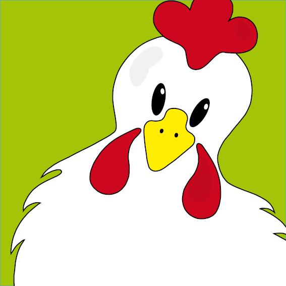 Witte kip Anna groen