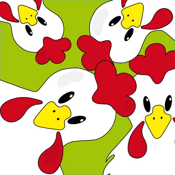 Witte kippen groen