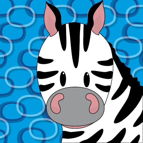 Zebra Mara blauwe ringen