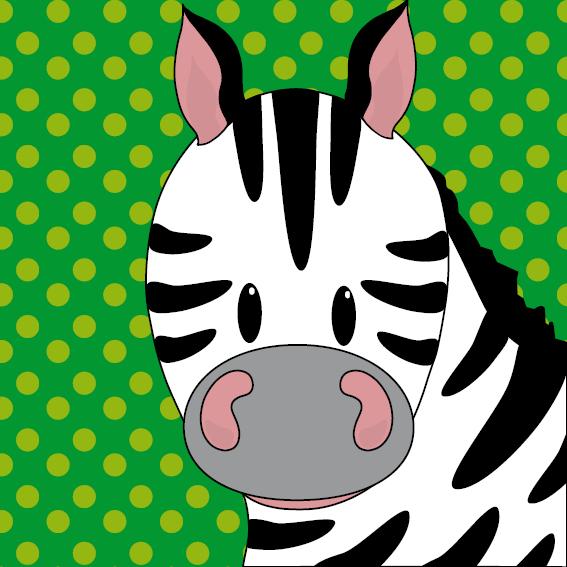 Zebra Mara stippen groen