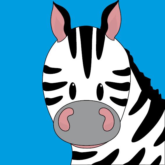 Zebra Mara blauw