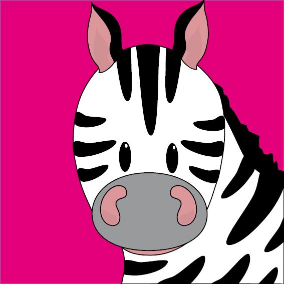Zebra Mara roze