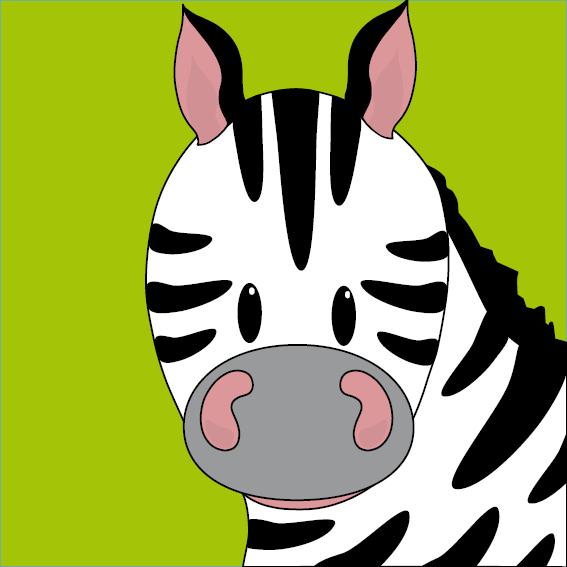 Zebra Mara groen