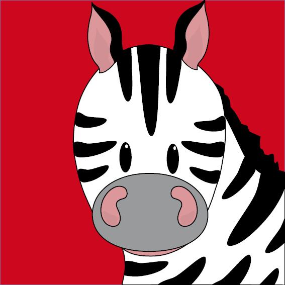 Zebra Mara rood