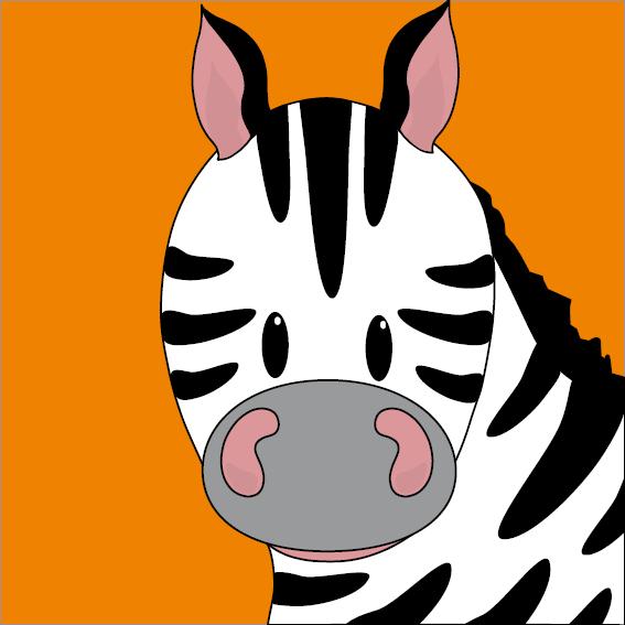 Zebra Mara oranje
