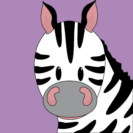 Zebra Mara paars