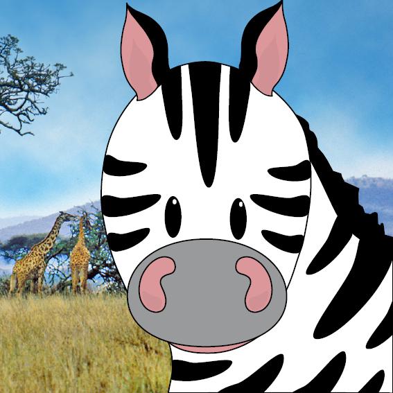 Zebra Mara foto savanne