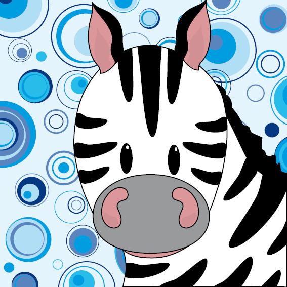 Zebra Mara cirkels blauw