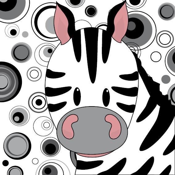 Zebra Mara cirkels zwart-wit
