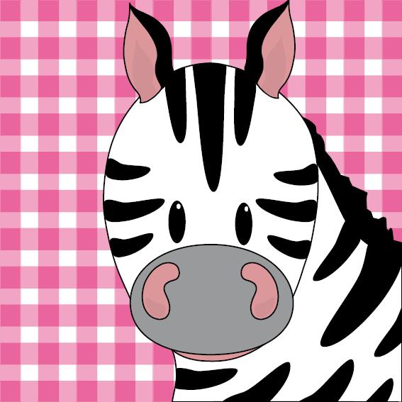 Zebra Mara roze ruit