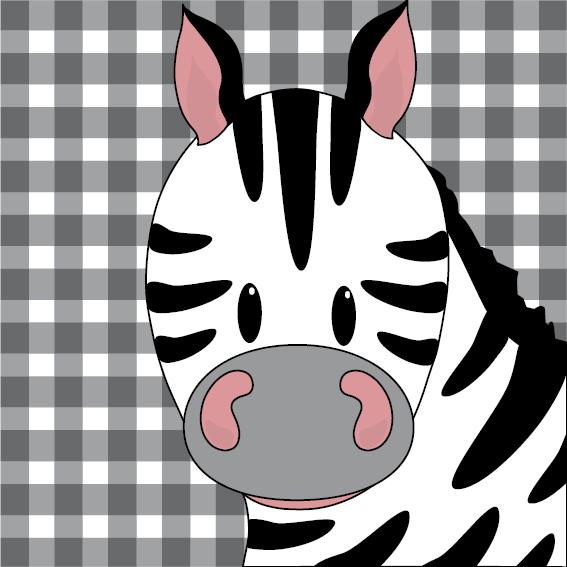 Zebra Mara zwarte ruit