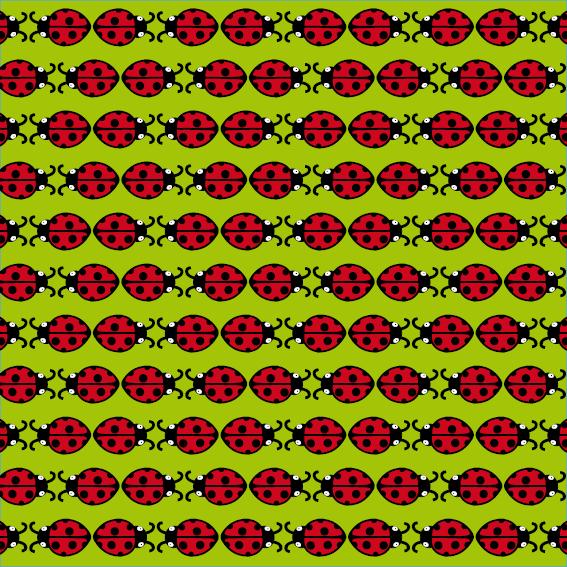 patroon Lieveheersbeestje groen