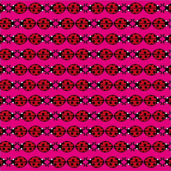 patroon Lieveheersbeestje roze