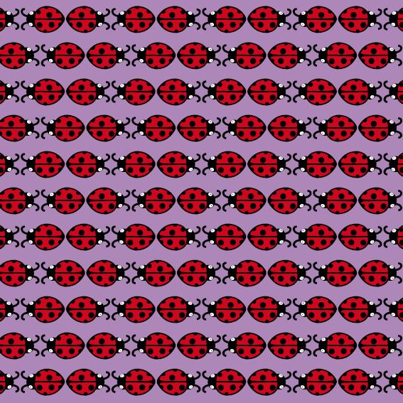 patroon Lieveheersbeestje paars