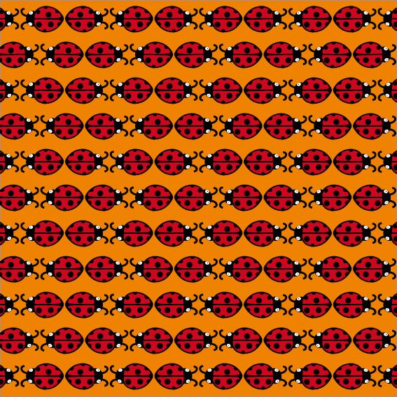 patroon Lieveheersbeestje oranje