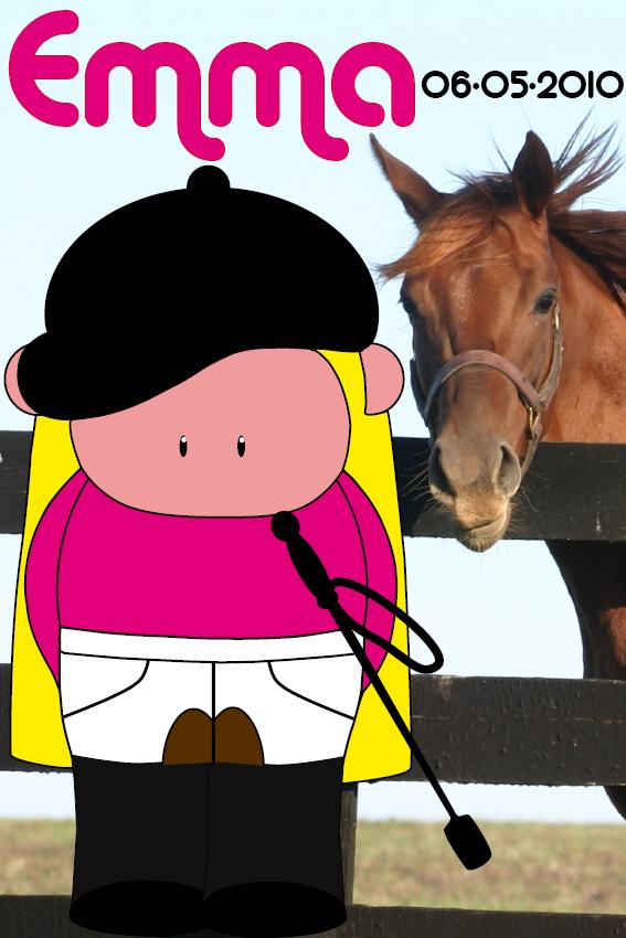 naamschilderij Amazone Merel foto paard