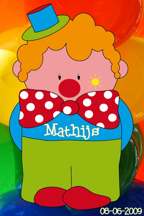 naamschilderij Clown Dirk foto ballonen