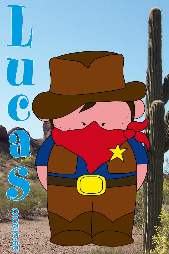 naamschilderij Cowboy Billy foto cactus