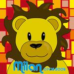 Leeuw Barry naamschilderij