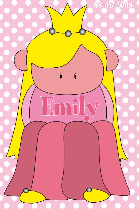 naamschilderij Prinsesje Amalia baby roze stippen