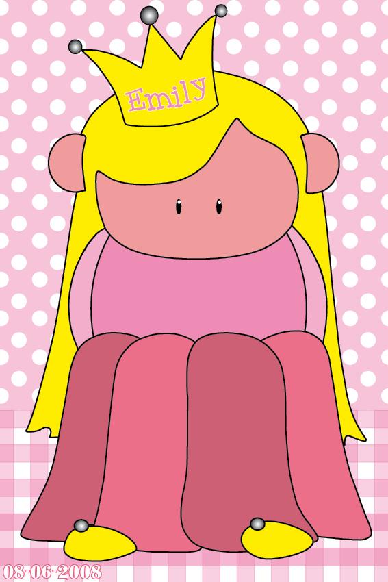 naamschilderij Prinsesje Amalia ruit en stip