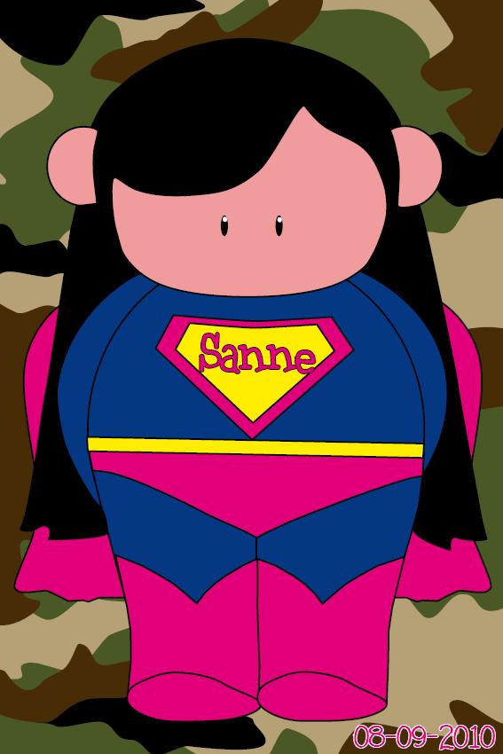 naamschilderij Super Maartje leger