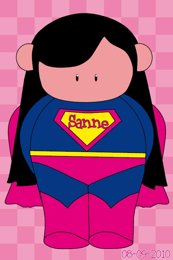 naamschilderij Super Maartje roze blokken