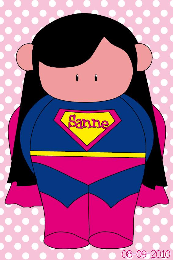 naamschilderij Super Maartje roze stippen