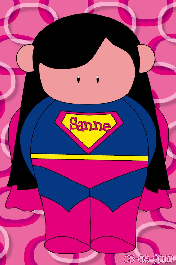 naamschilderij Super Maartje roze ringen