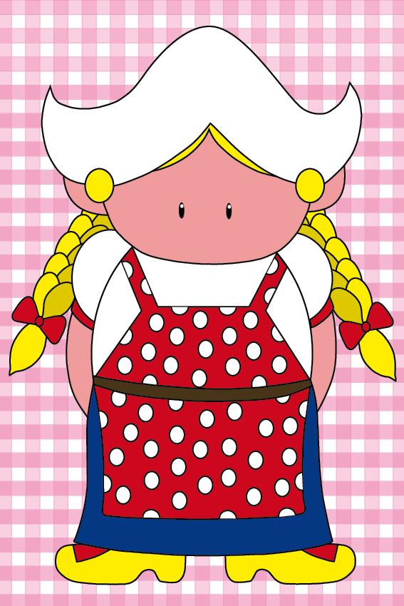 Boerinnetje Renske baby roze ruit