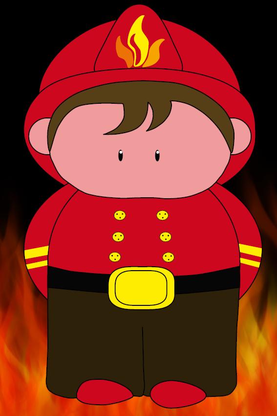 Brandweerman Karel foto vuur