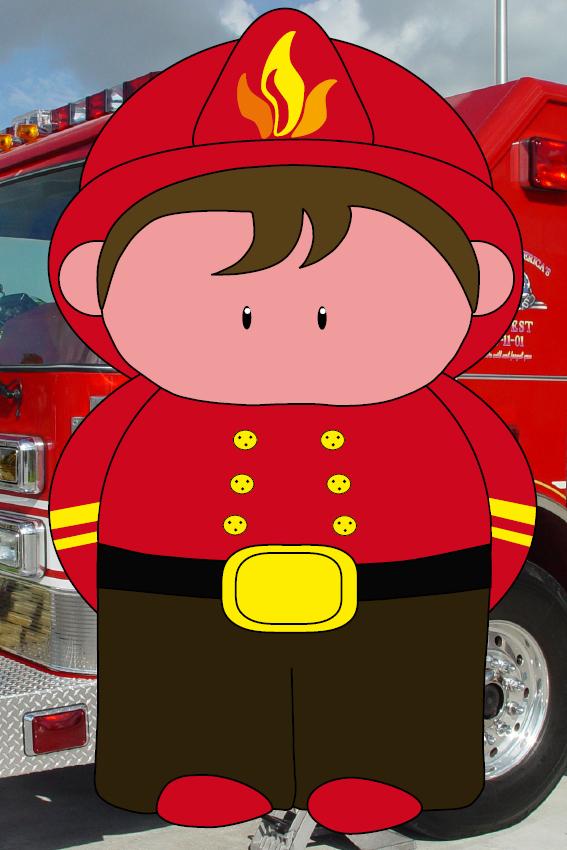 Brandweerman Karel foto brandweerwagen