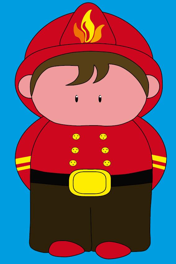 Brandweerman Karel blauw