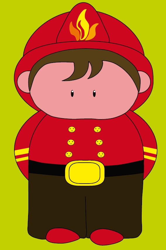 Brandweerman Karel groen
