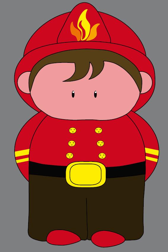 Brandweerman Karel grijs