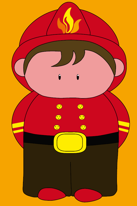 Brandweerman Karel oranje